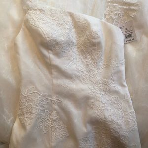 White by Vera Wang One Shoulder Lace Wedding Gown